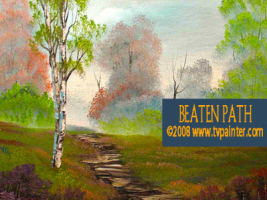 beaten path art lesson