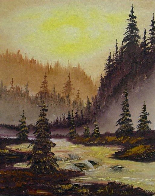 creek-side-sunset